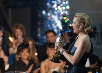 Kate Winslet accepts the Oscar¨ for Actress in a Leading Role for ÒThe ReaderÓ (The Weinstein Company) during the live ABC Telecast of the 81st Annual Academy Awards¨ from the Kodak Theatre, in Hollywood, CA Sunday, February 22, 2009.