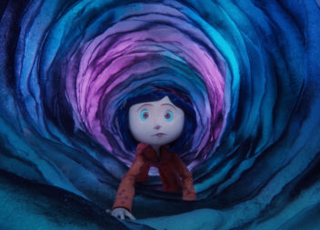 Coraline (voiced by Dakota Fanning) travels through a portal between worlds in Henry Selick's upcoming stop-motion animated 3-D adventure CORALINE, from LAIKA Entertainment for release by Universal Pictures International.